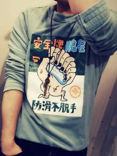 Outlet Fashion Print Crew Neck Men graphic hoodies