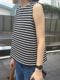 All Match Striped Casual Women Tank