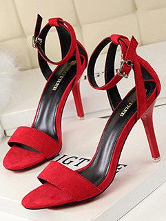 Wholesale Euro Ankle Strap Thin Heel Fashion Pump