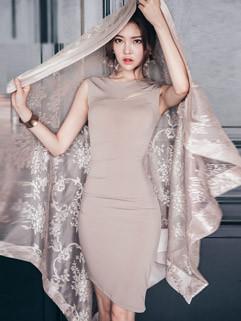 Korean Sexy Backless Sleeveless Body-con Pencil Dress