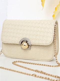 Cheap Wholesale Woven Pattern Metal Chain Shoulder Bag
