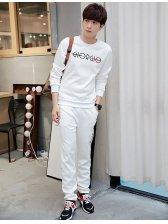 Japan Fashion Letter Print Sport Men Suit