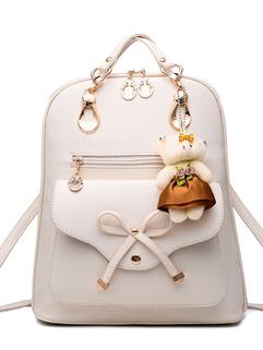 Korean Fashion Bow Zipper Street Backpack