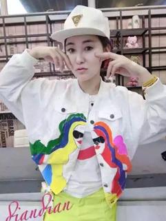 Personality Print Korean Denim Coats