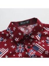 Wholesale New Flag Printing Casual Shirts