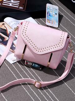 Outlet Fashion Rivet Square Shoulder Bag