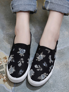 Wholesale Floral Patchwork Comfort Loafers