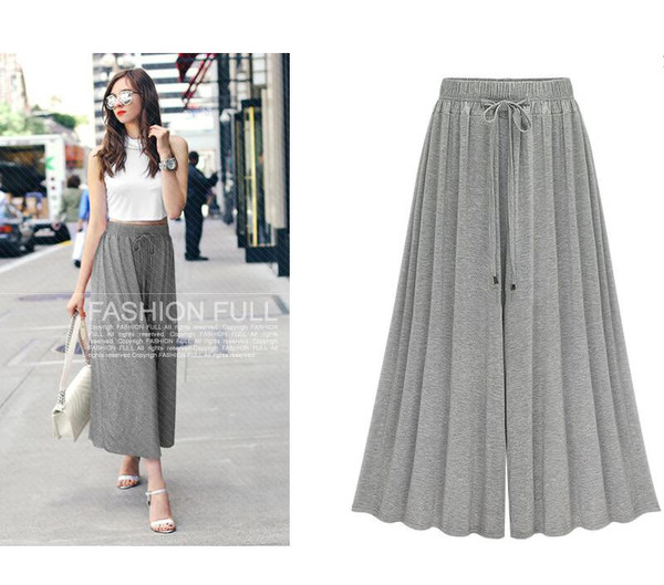 Wholesale Casual Loose Solid Woman Ninth Pants