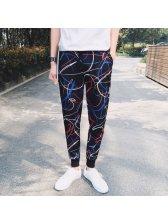 Japan Fashion Print String Sport Pants