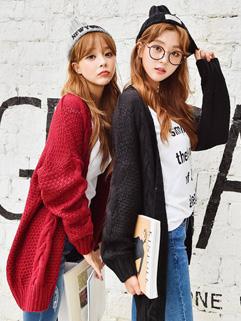 Popular Girl Like Long Sleeve Cardigan Knit Sweater