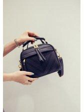 Korean Fashion Line Zipper Street Shoulder Bag