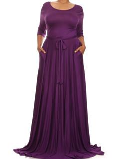 Euro Long Sleeve Lace up Plus Size Women's Dresses