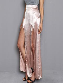 Elegant Silk Split Sexy Skirt For Woman