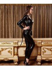 Online Cool Long Sleeve Halloween Costume Black Suits