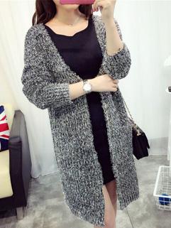 Easy Matching Knitting Long Sleeve Coats Cardigan