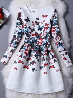 Wholesale Korean Bow Pattern Casual Dresses