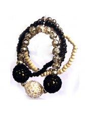Outlet Fashion Colorful Woven Ball Bracelet