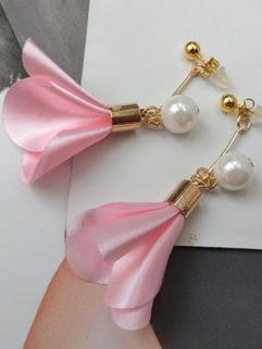Korean Sweet Floral Pearl Nice Earings
