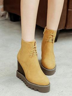 Causal Bandage Wedge Platform Women Ankle Boot