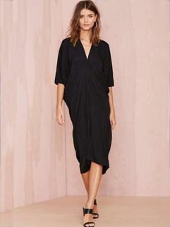 Euro Style V Neck Casual Maxi Dresses
