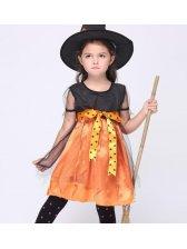 Fashion Bow Sleeveless Dress Performance Halloween Costume