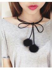 Korean Chic All Match Lint Ball Necklace