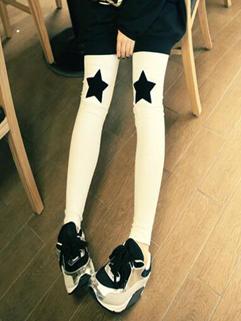 Fall Arrival Star Print Comfort Leggings Bottom