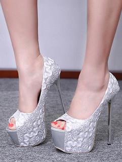 Easy Match Peep Toe Slip On High Heels