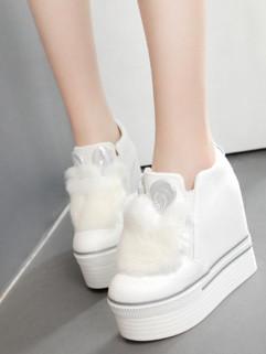 Cute Style Rabbit Round Toe Zipper Martin Boots