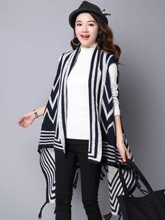 National Tassel Plus Size Women Knitting Cardigans