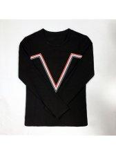 Wholesale Casual V Line O Neck Men T-Shirt