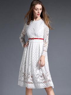 New Fashion Euro Lace A Line Dress
