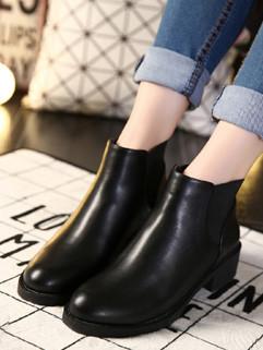 Super Star Style Round Toe Zipper Martin Boots