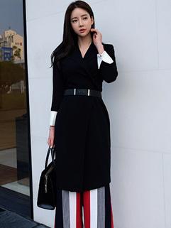 New Fashion Solid OL Blazers Cardigan Coats With Belt