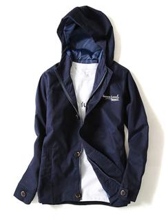 Cartoon Print Hooded Collar Zipper Jacket Coat