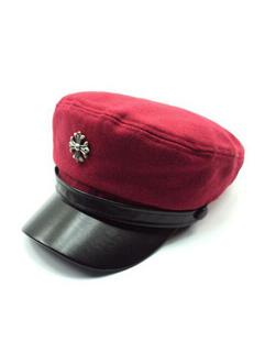 Korean Chic Metal Decorated Fedora Hat