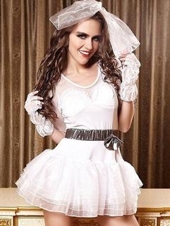Halloween Snow White Dress Night Club Uniform Temptation