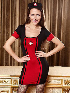 Halloween Online Buy Striped Patchwork Dress Uniform Temptation
