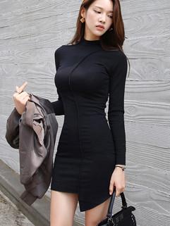 New Fashion Asymmetric Hem Pencil Dress