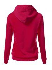Euro Style Print Long Sleeve Casual Hooded Hoodies