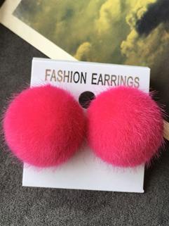 Hot Selling Lint Ball All Match Earrings