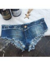 Wholesale Women Low Waist Denim Hot Pants