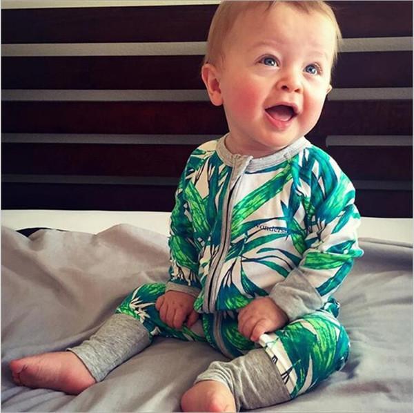 Hot Selling Printed Long Sleeve Infant Rompers