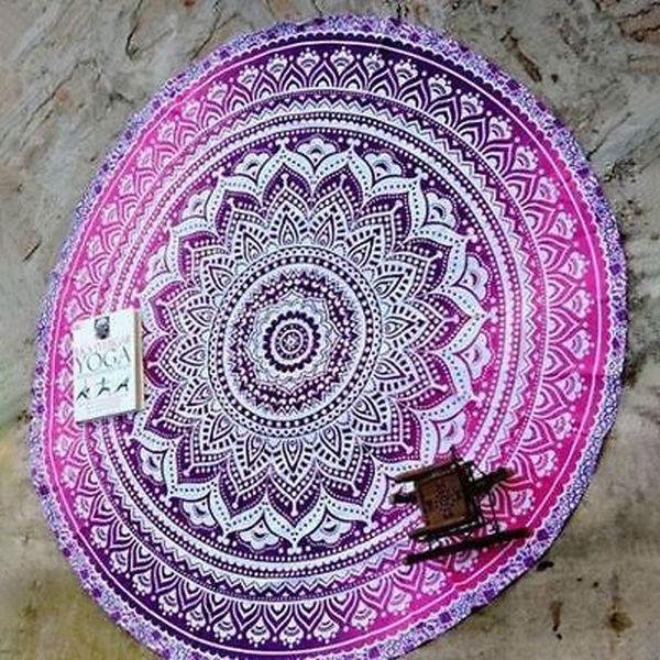Outlet Print Round Pashmina Scarf
