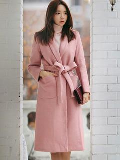 High Quality Bandage Fitting Long Overcoat