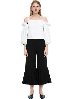 Unique Design Off The Shoulder Patchwork Flare Pants Jumpsuit