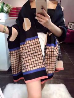 Stylish Dots Plaid Patchwork Chic Scarves