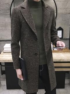 Japan Style Turndown Collar Pocket Winter Coat