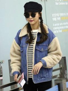 Wholesale Wool Cotton Patchwork Denim Cardigan Coats
