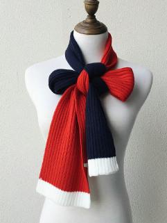 Outlet Korean Color Block All Match Elegant Scarves